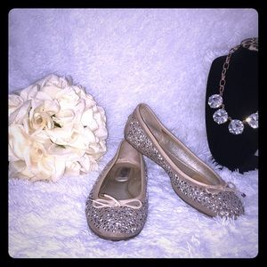 Jimmy Choo Rhinestones Flats / 38.5EU or 7US